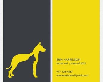Custom pet business card design groomer pet sitter dog walker dog walker dog trainer business cards full color both sides free ups ground colourmoves