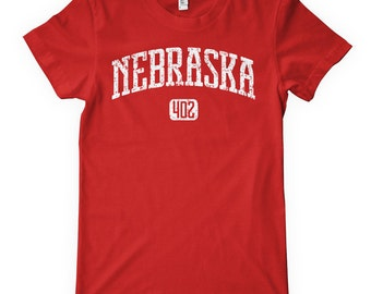 Women's Nebraska 402 T-shirt - S M L XL 2x - Ladies Nebraska Tee - 4 Colors