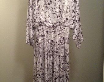 Vintage elegant evening dress 1980's with opened back - Size M/L (8/10).