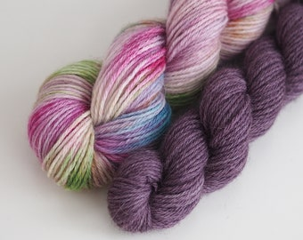Alpaca and Wool Sock Yarn Set - The Aubergine Couple