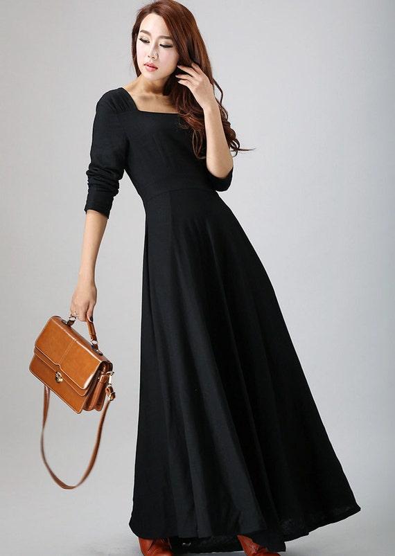 Black dress long maxi dress