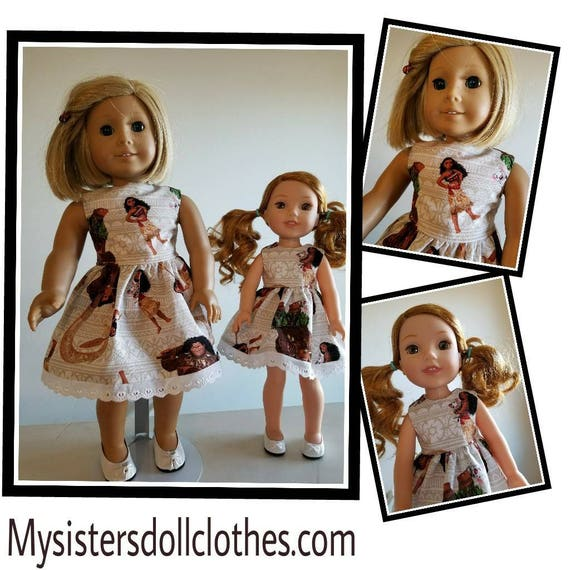 Moana Disney Dress Wisher Dress 14.5 Inch Doll or American Girl Doll