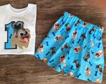 Puppy Dogs Birthday Outfit for Boys, Outfit with Puppy Dog Pals, Puppy Dog Pals Birthday Outfit, Puppy Dog Pals Shirt