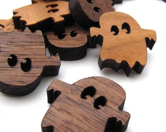 Itsies - Boo Ghost Halloween Charms - Laser Cut Mini Ghosts   Timber Green Woods Sustainable Forestry Products