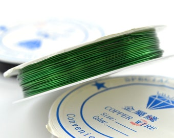 1 reel 2.5 M Green 0.6 mm Christmas copper wire