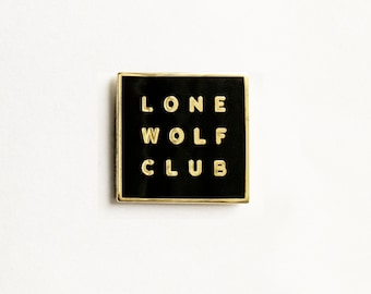 Lone Wolf Club Enamel Pin Badge
