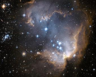 Small Magellanic Cloud (SMC) NGC 602 Giclee photo print fine art Hubble Space Telescope Poster Astronomy