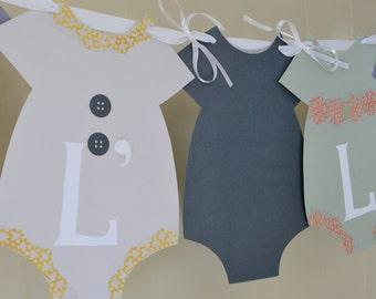 Baby girl Shower Banner, Baby Shower Banner, Onesie Baby Shower Banner, Baby Girl Nursery Banner, Gender Reveal Banner