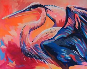 Heron - Giclee print
