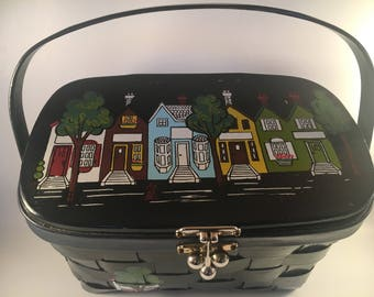 Caro Nan 1960's woven basket purse