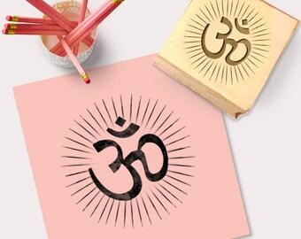 OM Symbol Stamp, Spiritual Stamp, Indian Wedding Stamp