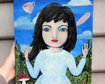 Alice , original , painting, Australian artist, artist Carla Elizabeth Rose