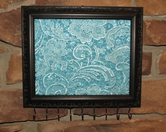HOLD - Wall Hanging Jewelry Organizer/Display  Painted Picture Frame  Jewelry Storage
