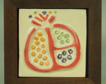 Pomegranate - Ceramic Tile