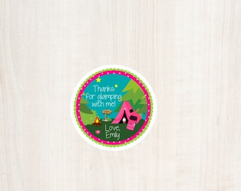 Glamping Party, Camping Birthday, Favor Tag, Glamping Favor Tag, Girls Birthday Party, Camping Sleepover, Glamping Birthday, Girls Camping