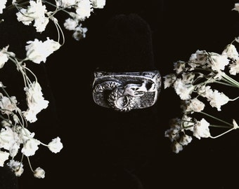 Serpent Sterling Silver Ring Size 5-6