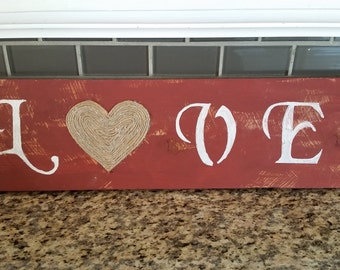 Rustic Wooden Love Sign