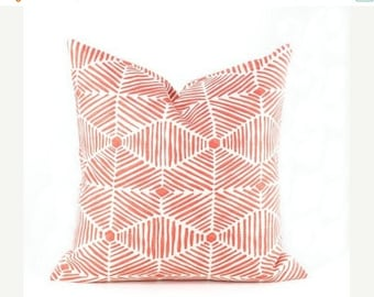 15% Off Sale PILLOWS, Decorative  Pillows Orange Pillow, Salmon Color Pillow, Pillow covers - throw pillows  Designer Pillow - Accent Pillow