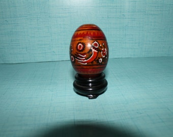 Vintage hand painted Easter egg and a stand