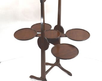"The ""Monoplane"" Vintage Folding Cake Pie Plate Stand"