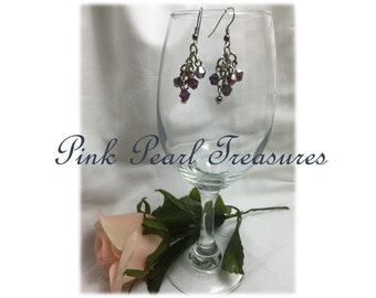 Violet Shimmer dangle earrings