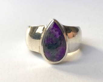 Deep Purple Sugilite Ring US 7 1/2