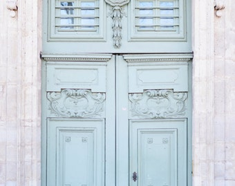 Paris Photography - A Grand Entrance, Paris Door Fine Art Photograph, French Travel Home Decor, Architecture, Large Wall Art