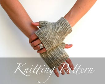 Knitting Pattern - Nature Walk Mitts - Gloves Pattern - Fingerless Gloves - Textured Knitting - Hand Warmer Pattern - Fall Knitting
