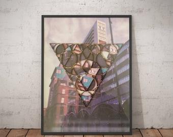 Tib Street | Manchester - Mixed Media - Photo Manipulation - Collage - Laser Cut