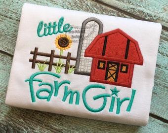 Little Farm Girl applique