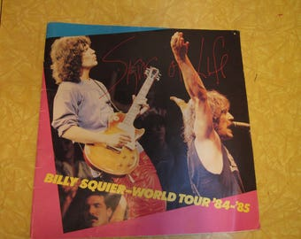 Rare 1984 Billy Squier Concert Progam (Not All Pages Shown)