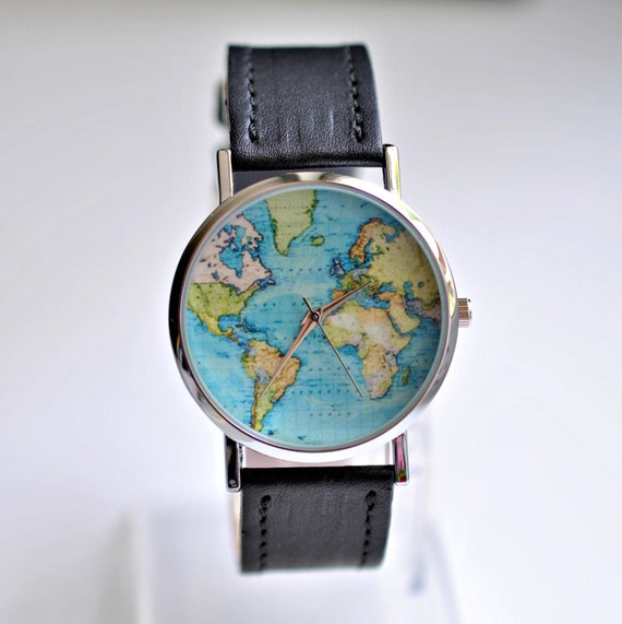 Gift for women graduation gift world map watch wanderlust gumiabroncs Choice Image