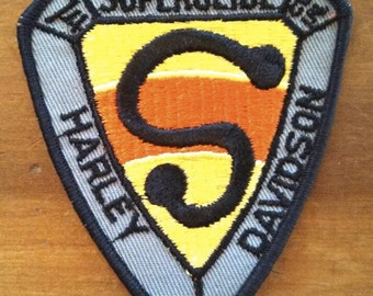 Harley Davidson Superglide Triangular rare patch aprox 3 1/2 x 3 1/4 ""