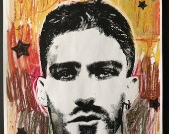 Signed Fine Art Print gay art homoerotic art male portrait