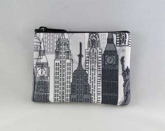 City Life Coin Purse - Coin Bag - Pouch - Accessory - Gift Card Holder