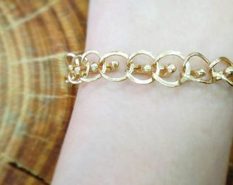 Golden chain bracelet, 14k Gold bracelets for women, Women's Bracelets gold, Bracelet for mom, Holiday gift, For her, girlfriend gift