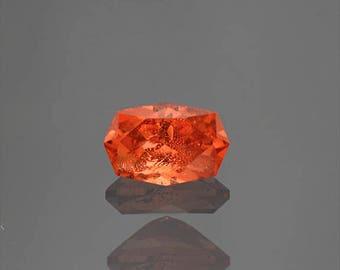 FLASH SALE! Excellent Rare Bright Orange Triplite Gemstone from Pakistan 1.41 cts.