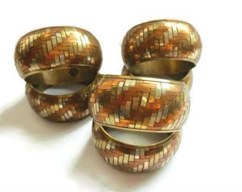 Brass and Copper Woven Napkin Rings, Unique Table Decor, Made in India,Napkin, Woven Metal Napkin Holders, Table Decor