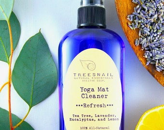 Yoga Mat Cleaner / Yoga Mat Spray / Essential Oils / Yoga Gifts / Aromatherapy / Yoga Mat Disinfectant / Lavender / Tea Tree / Yoga Gift