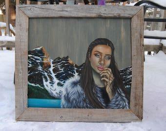 "Passage - 18""x20"" Original oil on wood painting"