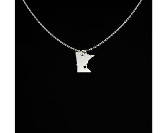 Minnesota Necklace - Minnesota Jewelry - Minnesota Gifts - Gift For Her - Gift For Girlfriend - Mother's Day Gift