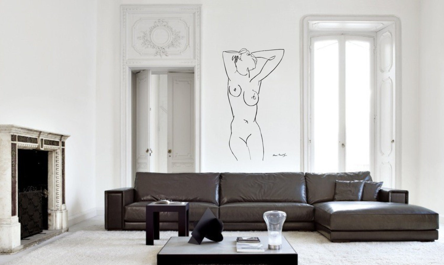 Wall Art inspired by Henri Matisse Claude vinyl wall decal for