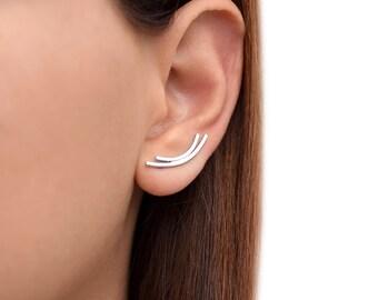 Minimal earring cuffs, minimalist jewelry, minimalist stud earrings, hypoallergenic studs, edgy earrings