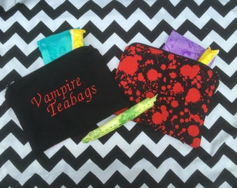 Vampire teabags tampon pouch