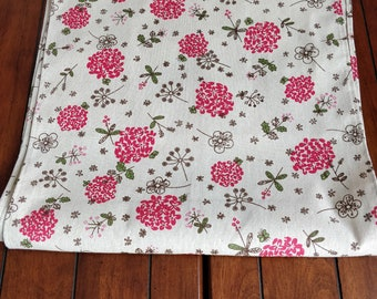 "Elegant Rustic Linen Table Runner 16 "" x 70 ""/Linen Printed Table Runner/Contemporany Rustic Table Runner"