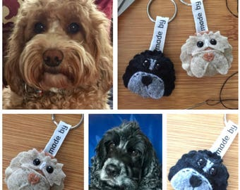 Personalised pet, dog, cat keyring
