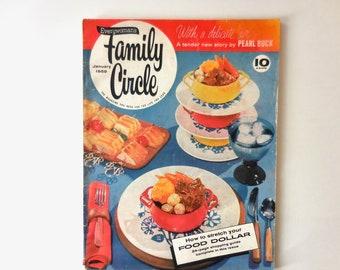January 1959 Family Circle Magazine, Woman's Magazine, 1950s, Vintage Advertising, Budgeting, Recipes, Coupons, Fashion, Women's Interest