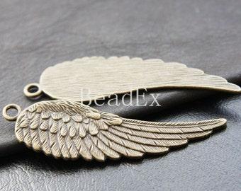 6pcs / Wing / Pendant / Antique Brass / Base Metal / Charm / Left Side (Y15894//E133)