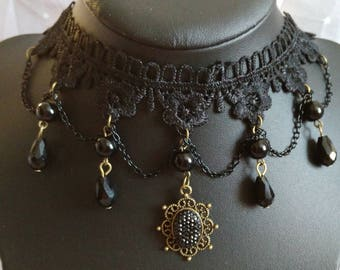 "Gothic necklace ""Countess"""