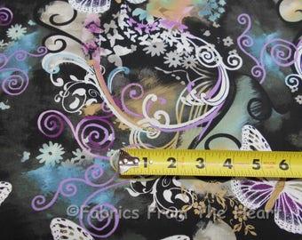 Filigree Flutter Butterflies Summer Garden BY YARDS Michael Miller Cotton Fabric